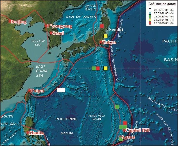 Динамика разлома как отражение подготовки события в Японии