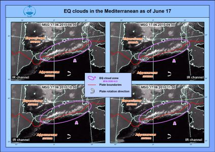 EQ cloud in the Greece area on the RC EOM's composite
