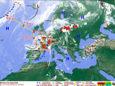 Траектория циклона Doris