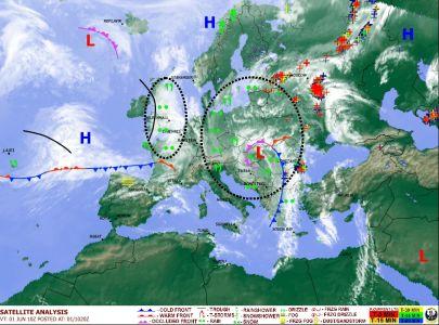 Дожди в Центральной и Восточной Европе