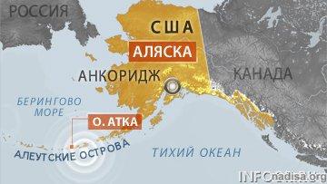 Землетрясение магнитудой 6,2 произошло на Аляске.
