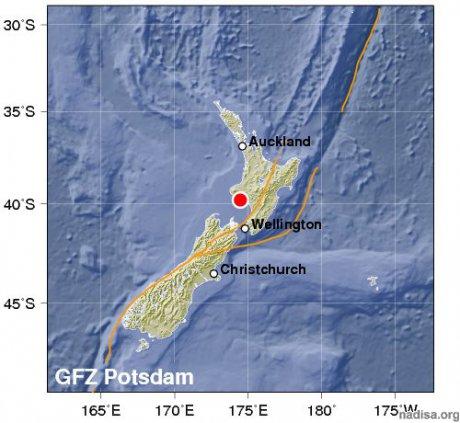 Серия землетрясений в новой Зеландии