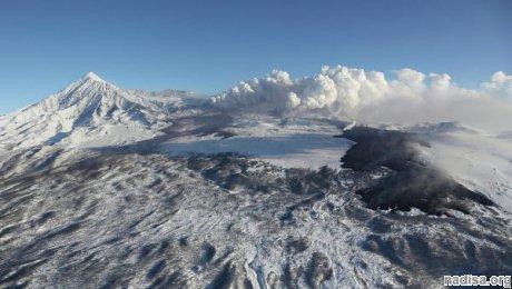 Мощность извержения вулкана Толбачик на Камчатке растет