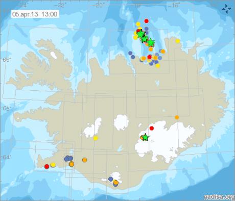 В Исландии произошло 70 землетрясений за сутки