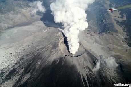 Вулкан Попокатепетль напомнил о себе
