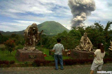 На горе Локон произошло очередное извержение