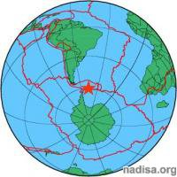 Землетрясение магнитудой 7,8 произошло в южной Атлантике
