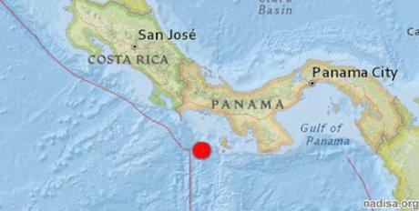 У берегов Панамы зарегистрировано 6,8-балльное землетрясение