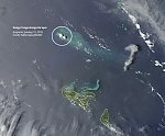 Very high resolution satellite image of newly created Tongan island