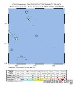 Strong and shallow M6.3 earthquake hits southeast of Loyalty Islands, New Caledonia