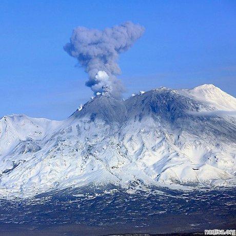 Вулкан Жупановский произвел очередной пепловыброс