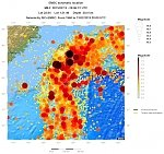 Strong and shallow M6.2 earthquake registered off the coast of Taiwan