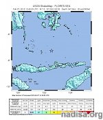 Very strong and deep M7.0 earthquake registered in Flores Sea, Indonesia