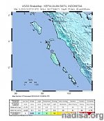 Strong and shallow M6.4 earthquake off the coast of southern Sumatra, Indonesia
