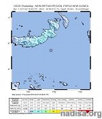 Strong and shallow M6.0 earthquake registered off the coast of New Britain, PNG