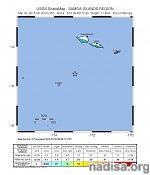 Two very strong and shallow earthquakes M6.4 and M6.5 hit Samoa Islands region