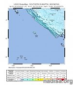 Strong and shallow M6.0 earthquake hits off the coast of Southern Sumatra, Indonesia