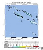 Very shallow M6.7 earthquake registered off the coast of Solomon Islands