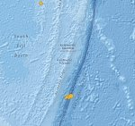 Another strong and shallow earthquake hits south of Kermadec Islands — M6.1