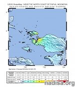 Very strong and shallow M6.9 earthquake hits near the coast of Papua, Indonesia