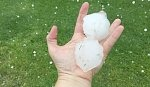 Violent rainstorms and large hail batter Israel