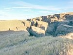 Giant crack appears in the foothills of Bigthorn Mountain, Wyoming