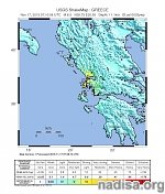 Strong and shallow M6.5 earthquake hits near the west coast of Greece