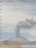 Moderately strong eruption took place at Ubinas volcano, Peru