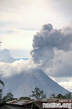 Eruption of Mount Sinabung continues, alert level remains at highest