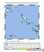Very strong M6.8 earthquake hit near the coast of Bougainville Island, P.N.G.