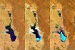 Satellites observe Lake Poopó evaporate, Bolivia