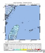 Strong M6.2 earthquake at intermediate depth hits near the coast of Taiwan