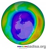 Antarctic ozone hole shows signs of healing