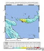 Very strong and shallow M6.8 earthquake hits Papua New Guinea