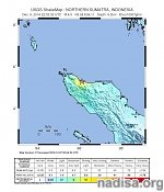 Strong and shallow M6.4 earthquake hits Sumatra, Indonesia