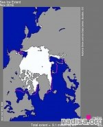 NSIDC reports record low Arctic sea ice extent