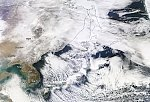 Severe winter storm hits Japan, intense sea-effect snow