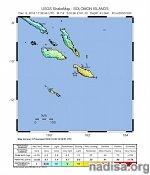 У Соломоновых островов произошло землетрясение магнитудой 7,8