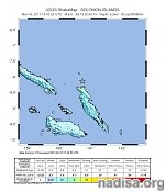 Strong and shallow M6.0 earthquake hits Solomon Islands