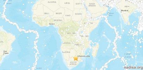 Редкое землетрясение магнитудой 5,2 произошло в Южной Африке