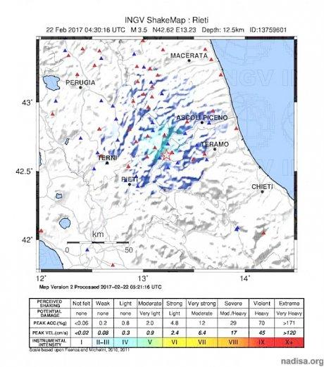 В Центральной Италии за ночь прогремело шесть землетрясений
