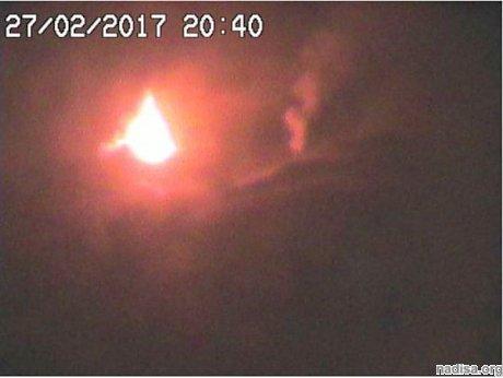 Вулкан Этна продемонстрировал впечатляющее извержение