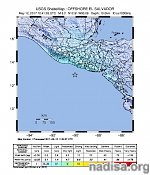 Strong and shallow M6.2 earthquake hits off the coast of El Salvador