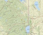 Earthquake swarm near Reno, Nevada — California border region