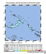 Strong and shallow M6.4 earthquake hits near the coast of New Ireland, P.N.G.