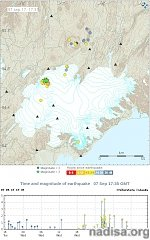 Earthquake swarm starts in the Bardarbunga caldera, Iceland