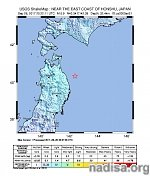 Strong and shallow M6.0 earthquake hits near the east coast of Honshu, Japan