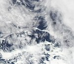 Gas emission observed over Mount Michael, South Atlantic Ocean