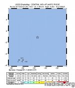 Strong and shallow M6.7 earthquake Central Mid-Atlantic Ridge