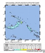 Strong and shallow M6.8 earthquake hits New Ireland, Papua New Guinea